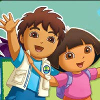 Dora and Diego beach treasure