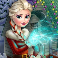 Frozen X-mas House Makeover