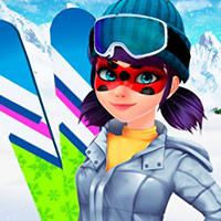 Mask Lady Ski Time