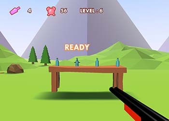 Play 3D Bottle Shooter online - Screenshot 1