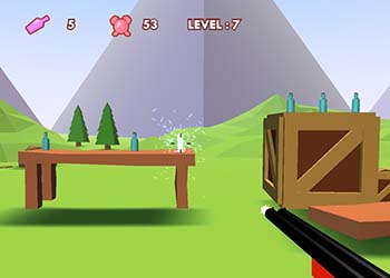 Play 3D Bottle Shooter online - Screenshot 2