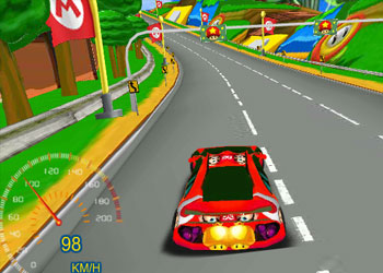 Play 3D Mario Racing online - Screenshot 2