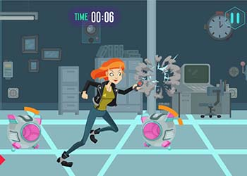 Play Agent Curiosa VS Rogue Robots online - Screenshot 1