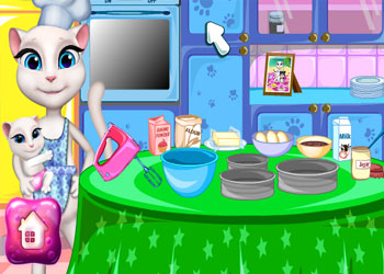 Play Angela Cooking Cake online - Screenshot 2