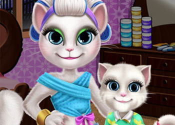 Play Angela Mommy Real Makeover online - Screenshot 2