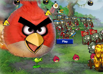 Play Angry Birds And Zombies online - Screenshot 1