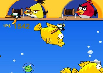 Play Angry Birds Double Fishing online - Screenshot 1