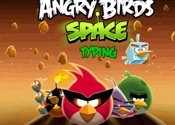 Play Angry Birds Space Typing online - Screenshot 1