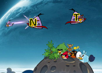 Play Angry Birds Space Typing online - Screenshot 2