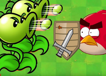 Play Angry Birds vs Peas online - Screenshot 1