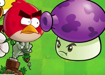 Play Angry Birds vs Plants online - Screenshot 1