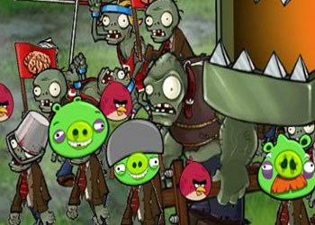 Play Angry Birds Vs Zombies online - Screenshot 1