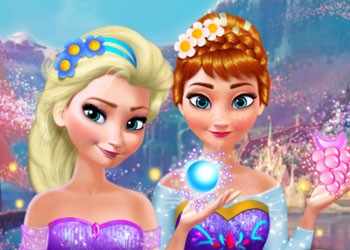 Play Anna and Elsa Makeover online - Screenshot 1
