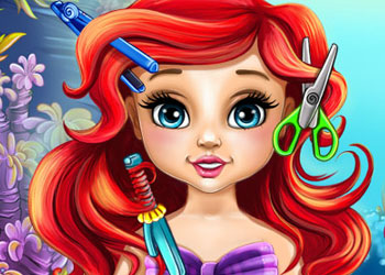 Play Baby Ariel Real Haircuts online - Screenshot 1