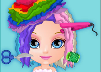 Play Baby Barbie Crazy Haircuts online - Screenshot 1