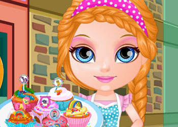 Play Baby Barbie Little Pony Cupcakes online - Screenshot 1