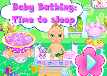 Play Baby Bathing Time To Sleep online - Screenshot 1