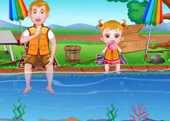 Play Baby Hazel Fishing Time online - Screenshot 1