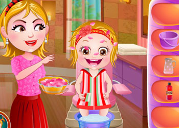 Play Baby Hazel Spa Makeover online - Screenshot 2