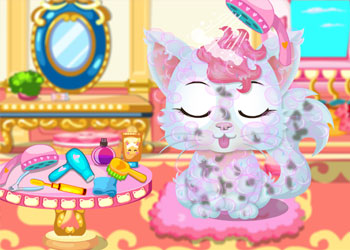Play Baby Kitty Salon online - Screenshot 2