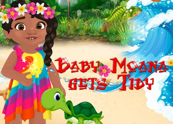 Play Baby Moana Gets Tidy online - Screenshot 1