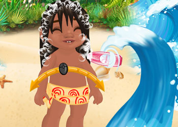 Play Baby Moana Gets Tidy online - Screenshot 2