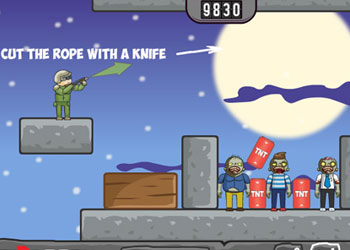 Play Balloons Vs Zombies online - Screenshot 1