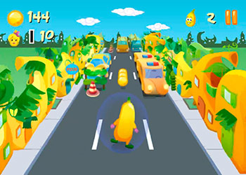 Play Banana Running online - Screenshot 1