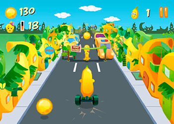 Play Banana Running online - Screenshot 2