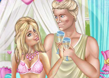 Play Barbie and Ken Wedding Night online - Screenshot 1
