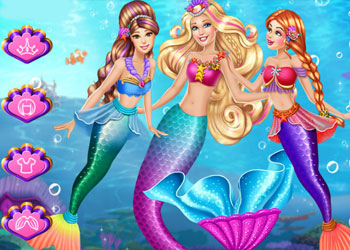 Play Barbie Mermaid Coronation online - Screenshot 2