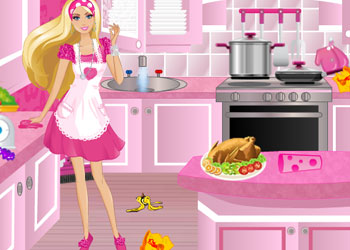 Play Barbie Party Cleanup online - Screenshot 2