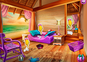 Play Beach House Cleaning online - Screenshot 2