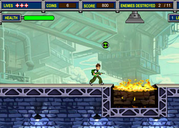 Play Ben 10 Aliens Kill Zone online - Screenshot 1