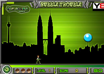 Play Ben 10 Bubble Trouble online - Screenshot 1
