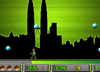 Play Ben 10 Bubble Trouble online - Screenshot 2