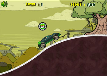 Play Ben 10 Car Rush online - Screenshot 1