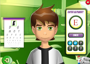Play Ben 10 Eye Doctor online - Screenshot 1