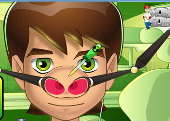 Play Ben 10 Nose Doctor online - Screenshot 2