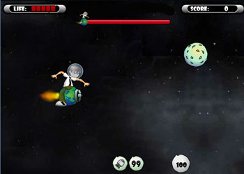 Play Ben 10 Space War online - Screenshot 1