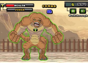 Play Ben 10 Street Fight online - Screenshot 2