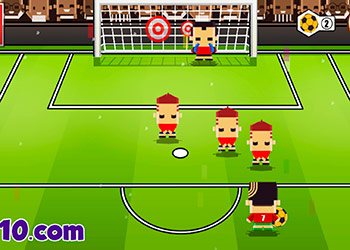 Play Blocky Kick 2 online - Screenshot 2