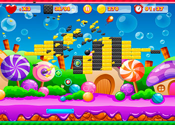 Play Brick Breaker online - Screenshot 2