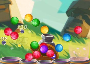 Play Bubble Shooter Team Battle online - Screenshot 2