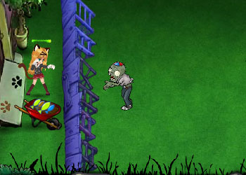 Play Cat and Zombie War online - Screenshot 1