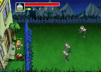 Play Cat and Zombie War online - Screenshot 2
