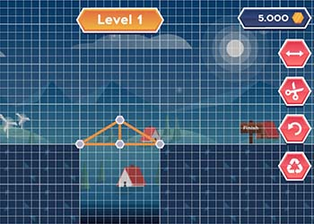 Play Construct A Bridge online - Screenshot 1
