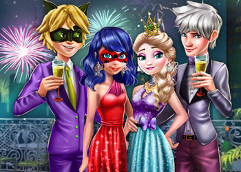 Play Couples New Year Party online - Screenshot 1