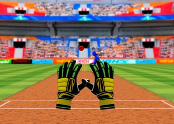 Play Cricket Fielder Challenge Game online - Screenshot 2