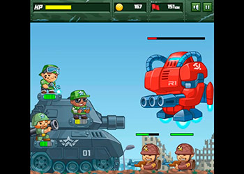 Play Defend The Tank online - Screenshot 2